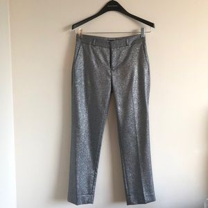 Silver shimmer pants. Perfect for New Years Eve!